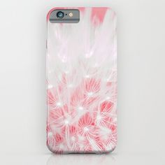 Pink Dandelion - iPhone 6 - iPhone6 Plus Cases - Slim and Tough options available - Gift For Her - Floral Design Case
