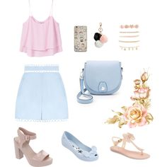 Sem título #142 by jullysakura on Polyvore featuring MANGO, Zimmermann, Melissa, rag & bone, Charlotte Russe, GUESS and candycolor