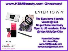 Enter To Win the Eyes have it Bundle. Enter @ https://gleam.io/bFj8M/the-eyes-have-it-avon-bundle?utm_content=buffer6a838&utm_medium=social&utm_source=pinterest.com&utm_campaign=buffer No Purchase Necessary. Open To U.S. Residents. To enter follow the link above in my profile. #avon #beautygiveaway #datenight #avonrep