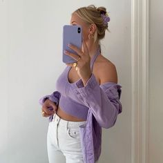 Pastel Outfit, Purple Outfits, Trendy Outfits, Summer Outfits, Cute Outfits, Fashion Outfits, Fashion Capsule, Fashion Blogger Instagram, Parisian Girl