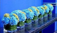 'baby blue shower decorations using clear vases' | Home › Planning › Trouwen-met-een-thema › Bruiloft-stijl ...