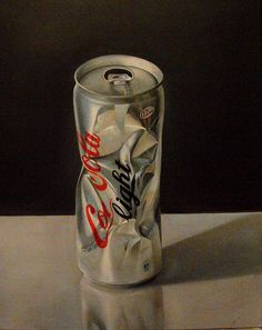 Coke Oil, canvas (c) Piskunov Sergey Coors Light, Light Beer, Coca Cola, Beverages, Hyperrealism, Coke, Canvas, Tela, Canvases