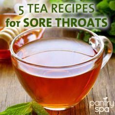 5 Sore Throat Tea Recipes & DIY Natural Sore Throat Remedies