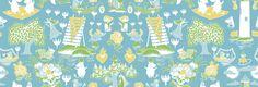 Moomin Retro Pattern - Blue & Green
