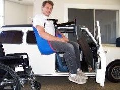 Port-A-Lift in Vehicles Don't replace your favorite vehicle - install Port-A-Lift instead! Even your small car is accessible with Port-A-Lift 3 photos of the transfer from wheelchair to the vehicle.