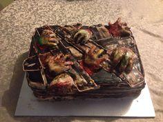 Zombie birthday cake