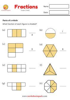 Simple Fractions Worksheets - Printable and Online Worksheets Pack