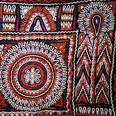 Embroidery by the Rabari, nomadic herders from The Great Rann of Kutch, Gujarat.:
