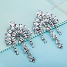 Bridal Drop Earrings Fashion Jewelry Luxury Dangle Crystal Earrings for Women FSE025-A