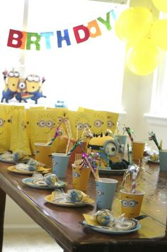 "Photo 1 of 20: Minions / Birthday ""Minion (Despicable Me) Party"""