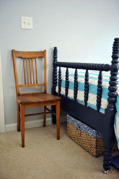 Big Boy Room.  Like the blue bed.