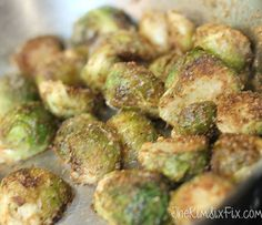 Breadcrumb and parmesan sprouts