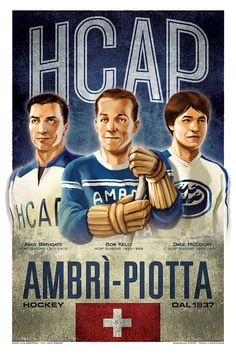 Ambri' Piotta HC Vintage Posters by Francesca D'Ottavi