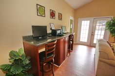 Business Center with Wi-Fi in our community clubhouse! Atlanta Apartments, Business Centre, Wi Fi, Corner Desk, Community, Furniture, Home Decor, Corner Table, Decoration Home