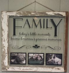 Vintage+Window+Single+Pane+Picture+Frames+by+VaughnCustomCreation. Simple Anniversary Decoration Ideas At Home Old Window Crafts, Old Window Projects, Vinyl Projects, Craft Projects, Old Window Ideas, Craft Ideas, Vintage Windows, Old Windows, Antique Windows