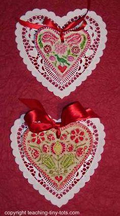 Valentines Salt Dough Hearts #valentines, #saltdough http://www.teaching-tiny-tots.com/toddler-activities-valentines-dough.html