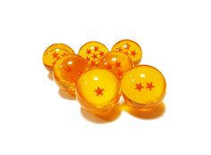 Set with all 7 dragon balls from Dragon Ball anime series! Each ball has a diameter of 4,3 cm.