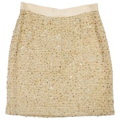 Pre-owned Kate Spade Gold Sequin Tweed Skirt ($109) ❤ liked on Polyvore featuring skirts, none, gold sequin skirt, sequin skirt, kate spade, brown skirt and brown tweed skirt