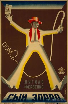 Poster by the Stenberg Brothers for Douglas Fairbanks; Son of Zorro, 1929.