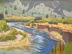 Cool River by Mark Fehlman Oil ~ 12 x 16