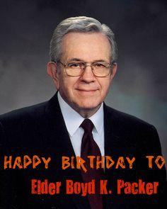 Happy Birthday To: Elder Boyd K Packer of the Quorum Of The Twelve He turns 89 today