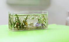 Miniature, Dollhouse Miniature, miniature furniture, miniature aquarium 1/12