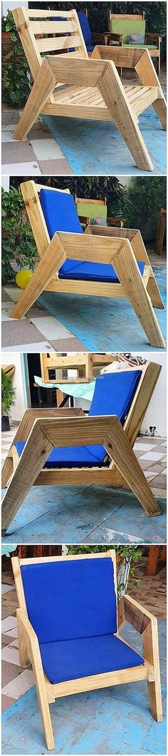 Charming Ideas Made Out of Shipping Pallets: Let's train you with some of the sensible and activity methods of up-cycling the used wood pallets for your house decoration. Diy Pallet Furniture, Wood Furniture, Outdoor Furniture, Pallet Chairs, Furniture Ideas, Woodworking Plans, Woodworking Projects, Wooden Plane, Diy Recycling