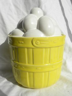 Vintage McCoy Eggs in Yellow Basket Cookie Jar Marked McCoy 0274 USA | eBay