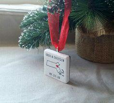 Personalized Massachusetts State Christmas Ornament by @MyLittleChick
