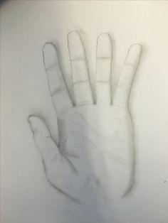 Opdracht voor het eerst een hand tekenen