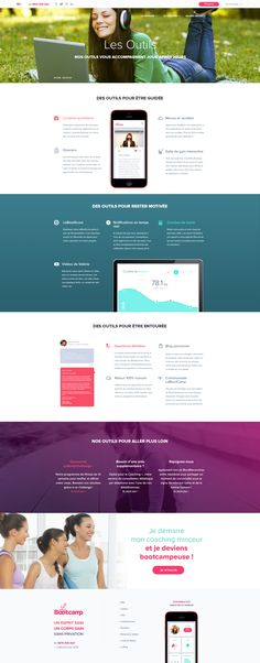 LeBootCamp.com - New design 2016 - Fitness - Sport - Coaching - Webdesign - UI - UX - Responsive Coaching, Fitness Sport, Wireframe, Ui Ux, News Design, Inspiration, Web Design, Fitness Exercises, Page Layout