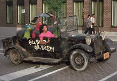 """Oscar's car is called the Sloppy Jalopy. Sesame Street Muppets, Oscar The Grouch, Sports Personality, Famous Movies, S Car, Commercial Vehicle, Painted Signs, Custom Cars, Antique Cars"