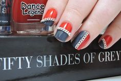 Fifty Shades of Grey #rednails #movieinspired  #nailblogger Download #beautyapp - bellashoot to see more!
