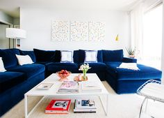 15 Lovely Living Room Designs With Blue Accents  Navy Sofa Brilliant Blue Sofa Living Room Design Review