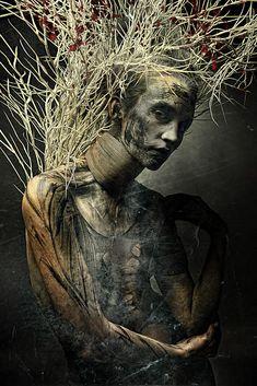 Neobrush by stefan gesell on dark fantasy, fantasy art, creative portraits, dark Arte Horror, Horror Art, Pinterest Arte, Dark Fantasy, Fantasy Art, Fantasy Photography, Macabre Photography, Creative Portraits, Belle Photo