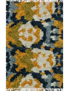 "$1649 7'9""x9'9"" Lulu & Georgia - Justina Blakeney Fable Rug, Marine & Gold"
