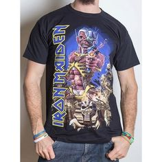 Tricou Iron Maiden: Somewhere Back in Time Jumbo Back In Time, Iron Maiden, Metalhead, Tanks, Mens Tops, T Shirt, Outfits, Fashion, Supreme T Shirt