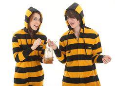 The Bumble Funzee     'Bee' ready with this fleece adult onesie  http://www.funzee.co.uk/product-range/fleece-adult-onesie-in-goldblack-stripes