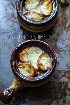 French Onion Soup is total delicious comfort food in a bowl! Find the recipe on cakeduchess.com. #soup #recipe
