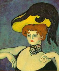 Courtisane au collier de gemmes, Picasso 1901, Impressionist Period and beginning of the Blue Period.