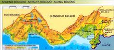 Akdeniz bölgesi fiziki haritası