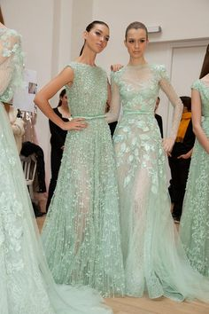 Elie Saab - Haute Couture Spring 2012, lovely minty green