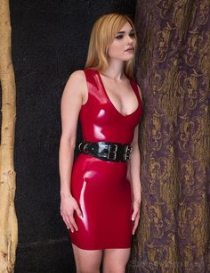 Jayme Langford | Syren Latex | red latex