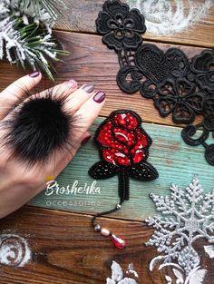 Брошь Роза производства мастера BROSHE4KA на платформе Crafta. Купить хенд мейд Брошь Роза в Украине из первых рук.