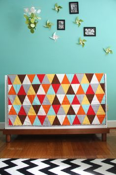 ready to ship triangle quilt