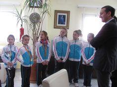 El Club de Gimnasia calpe visitando al Alcalde