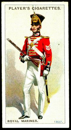 Cigarette Card - Royal Marines, 1837
