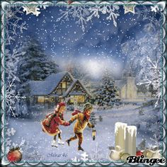 winter Christmas Scenes, Christmas Past, Christmas Images, Winter Christmas, Winter Images, Winter Pictures, Snow Scenes, Winter Scenes, Victorian Christmas