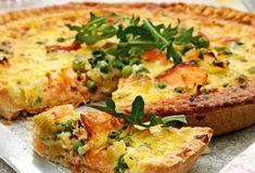 Tarte aux poireaux et saumon au Thermomix, recette d'une délicieuse tarte salée, rapide et facile à faire et parfaite à servir en guise d'entrée ou en guise de plat principal accompagnée d'une salade.