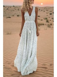Ladies Floral Print Elastic Waist Toga Long Maxi Dress Pattern Bright Plus Size
